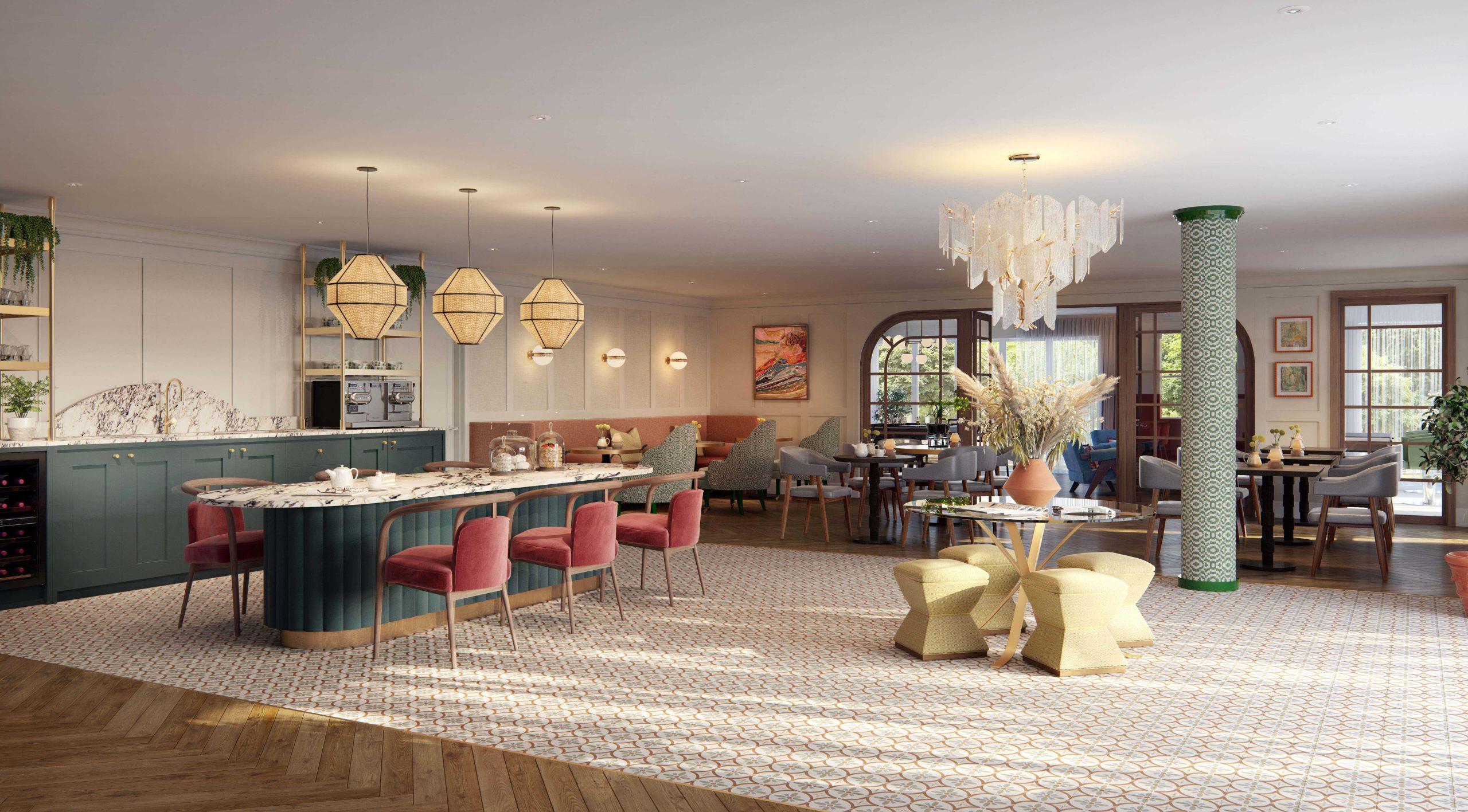 Principle Care Homes – Fleet – Lobby design