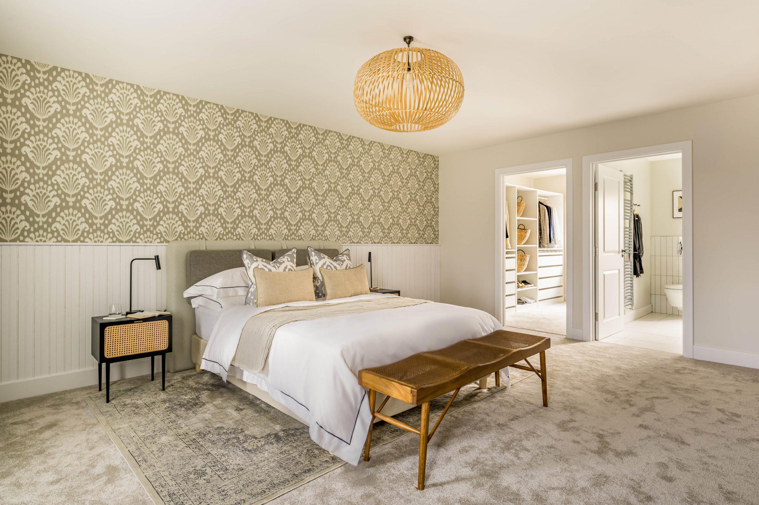 Garden Mews master bedroom suite interior