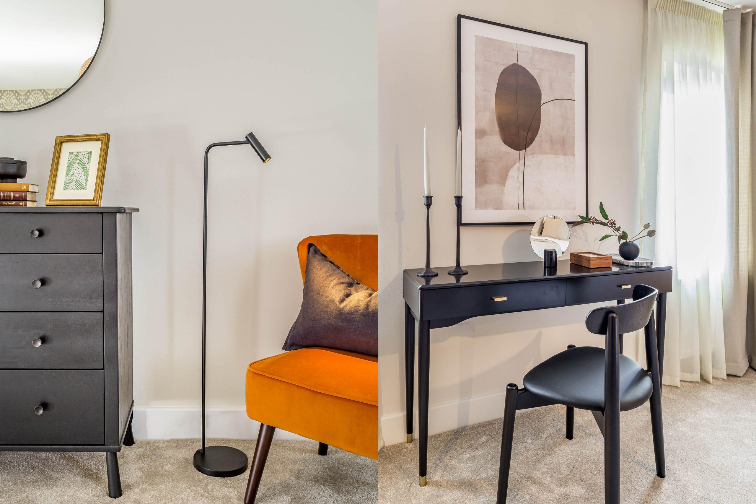 Garden Mews master bedroom suite styling